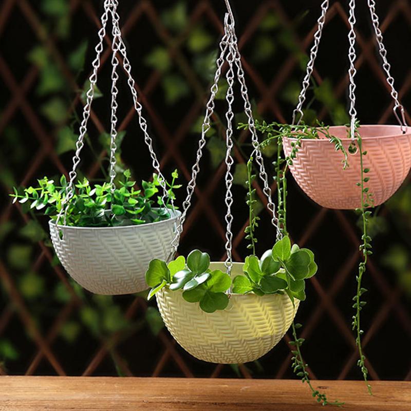 创意塑料悬挂式多肉植物吊兰花盆个性大口径君子兰盆铜钱草景吊篮3.5元