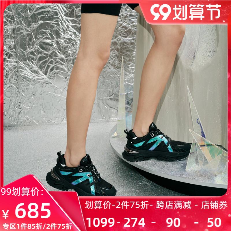 Roberta诺贝达女鞋2021新品厚底老爹鞋休闲鞋女士运动鞋RC19206
