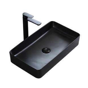北歐啞光磨砂黑色陽台上盆單盆洗臉池洗漱面盆家用陶瓷藝術洗手盆