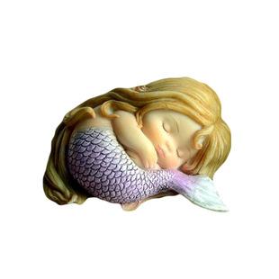 创意可爱美人鱼摆件树脂花仙子鱼缸