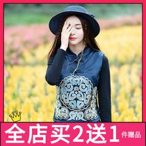 洋气短款马甲女春秋中式背心女装中国风复古弹力绸缎绣花马夹外套