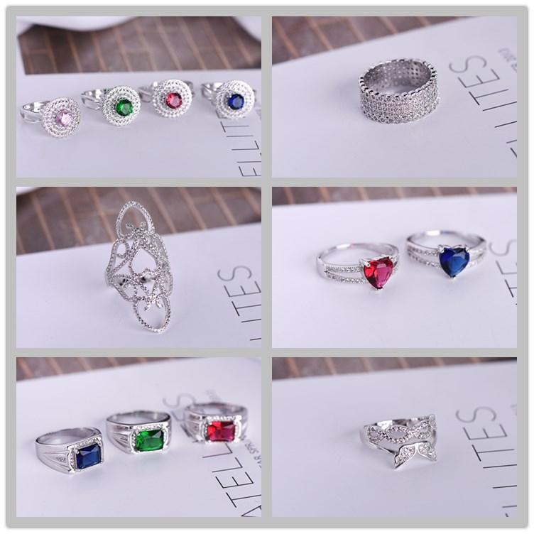 歐美風誇張鏤空微鑲鋯石時尚女戒指韓版綠寶石指環義烏飾品配飾