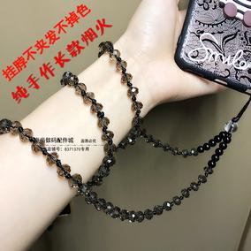 长款手机通用水晶不掉色挂脖挂链