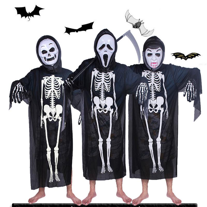 万圣节化妆舞会万圣节服装大人儿童衣服道具骷髅骨架鬼衣魔鬼面具