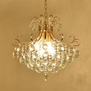 美式吊灯客厅卧室餐厅乡村欧式简约过道入户大气奢华高档水晶吊灯