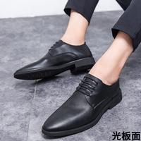 查看休闲皮鞋男生皮鞋潮流韩版青年商务正装软面皮软底夏季工作男皮鞋价格