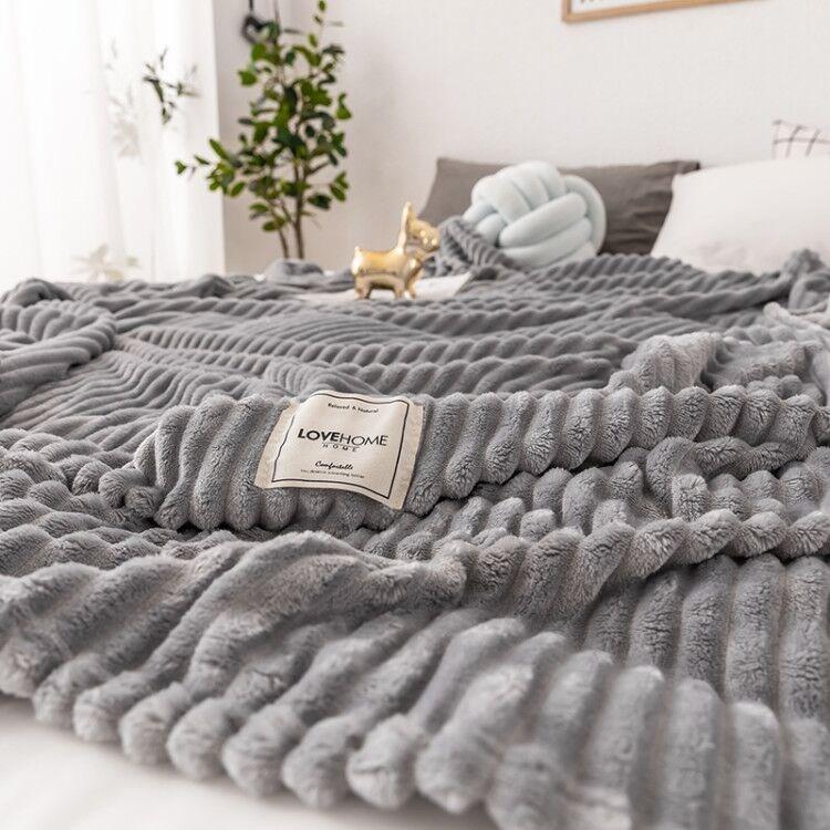 竹丝湾双面牛奶法莱绒毛毯被子加厚珊瑚绒毯空调毯午睡单双人盖毯
