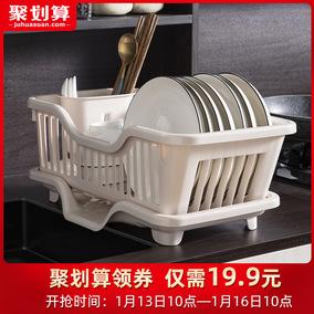 厨房置物架放碗碟餐具家用收纳盒
