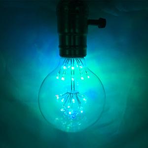 爱迪生复古灯泡个性创意艺术暖光E27螺口G80七彩满天星LED灯泡