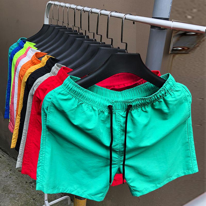 四分裤男夏季沙滩裤超短三分裤速干短裤糖果色宽松薄款运动短裤潮(非品牌)