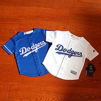 查看美国青年儿童短袖棒球服亲子装情侣装训练服T恤街舞表演服开衫价格