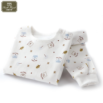 Baby underwear cotton baby children warm autumn clothes autumn pants set male virgins 1 cotton sweaters 2 spring and autumn season 3 years 0