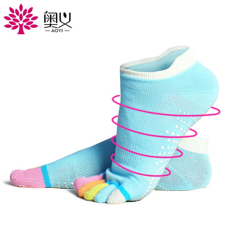 Эзотерический специальности нескользящие Йога носки зеленые частицы массажные носки хлопок Качественные износостойкие пот-абсорбирующие носки йоги