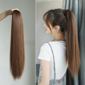 假发直马尾 长直发马尾女中长发扎发捆绑式仿真自然蓬松绑高辫子