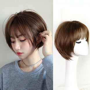 韩国网红气质波波头假发帅气时尚 假发女短发 修脸自然逼真头套式
