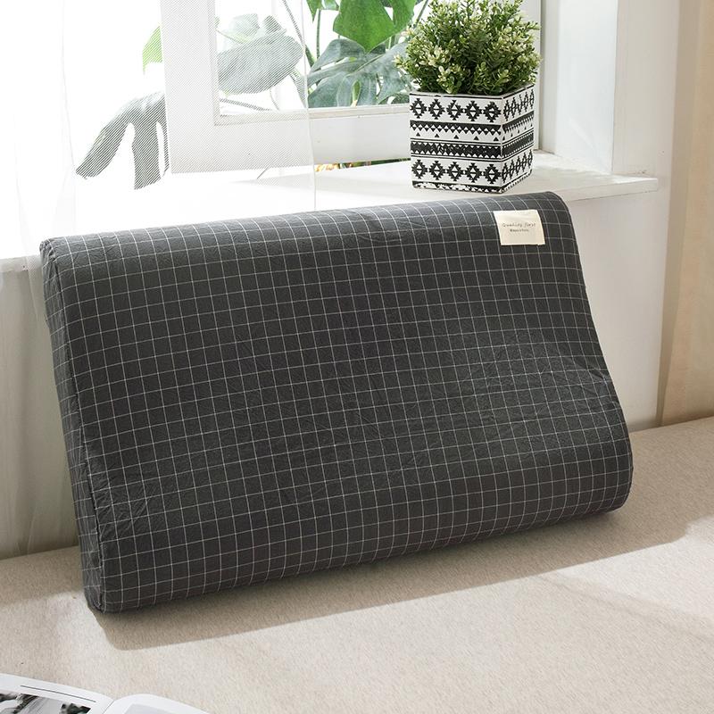 日式无印良品全棉单只乳胶枕头套