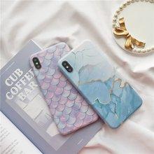 北欧风大理石硅胶软壳苹果11pro max手机套iPhone7/8plus防摔女款