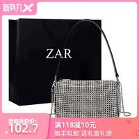 香港小ck包包女包新款单肩包女2020韩版手提包小大王水钻包满钻包