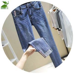 薄款2019新款韩版显瘦高腰潮牛仔裤