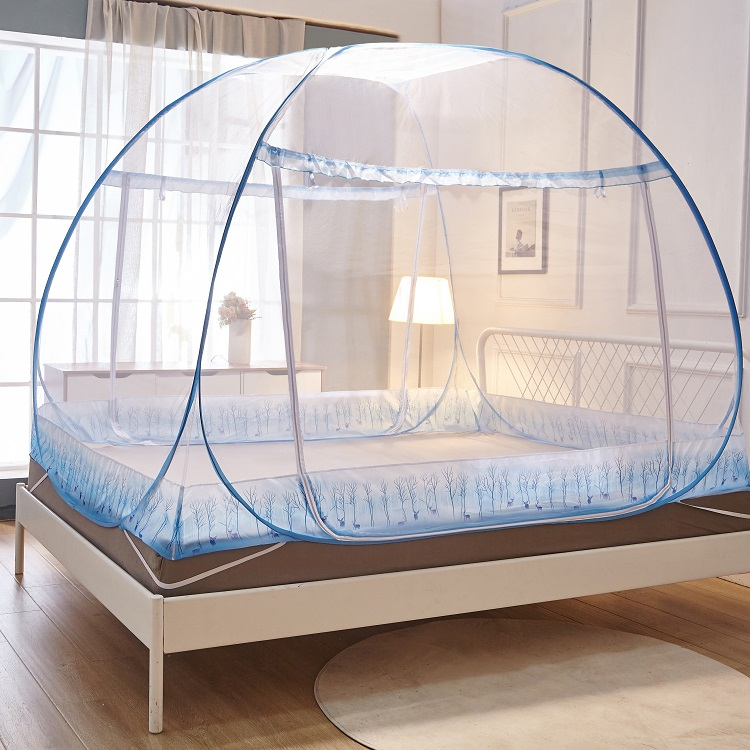 Mongolian mosquito net students upper single bed lower three door 1.2m 1.5m1.8m bed folding installation free