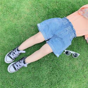 橘汁家女童牛仔短裤2020夏装儿童休闲裤女宝宝夏季热裤花苞裤洋气