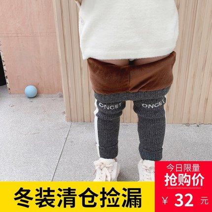 女童打底裤冬加绒加厚外穿长裤图片