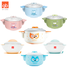 Good child baby supplementary food bowl children tableware suction cup water filled heat preservation bowl