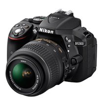 (Add a spare battery) Nikon Nikon D5300 set 18-55 18-105 140VR lens HD SLR Camera entry-level