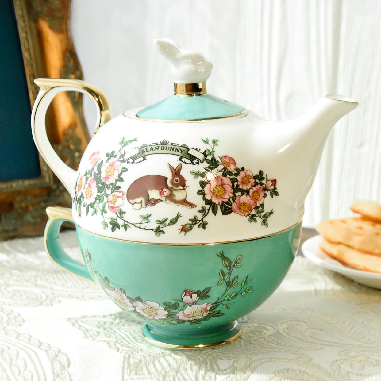 秘密花园子母壶布兰兔的茶骨瓷茶具套装英式复古杯碟下午茶茶壶