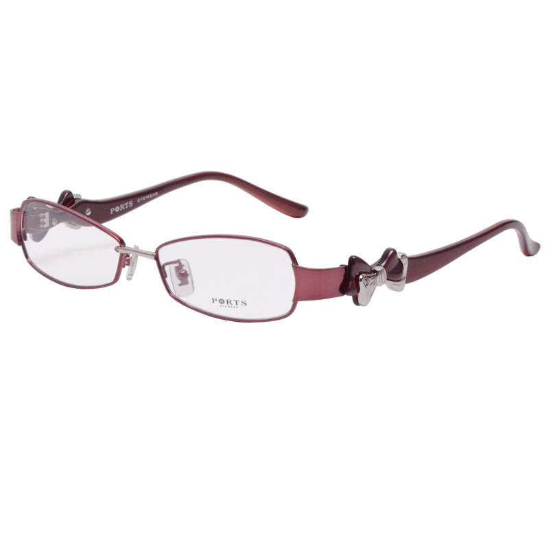 Baozi spectacle frame full frame TR90 bow pof11101 metal thin frame wide leg fishtail eye frame