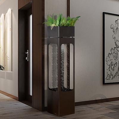 大型室内流水招财风水轮家里摆设喷泉客厅装饰品花架水景轻奢摆件