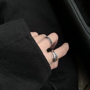 个性 复古罗马数字开口戒指女时尚 ins潮冷淡风小众设计简约指环