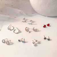 S925 серебро стрелка корейский прогрессивный Простая и компактная личная сеть красный Дизайнерские серьги, маленькие серьги женский Серьги