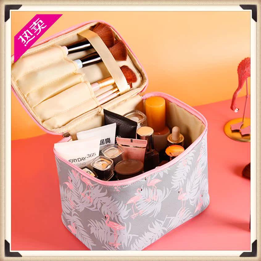 携带手提化妆包旅行手拎防尘时尚90后彩妆师家用大容量箱化妆箱包