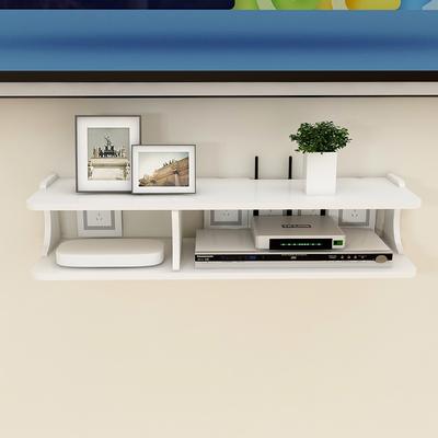 电视机顶盒置物架免打孔路由器收纳盒墙上墙壁挂客厅卧室隔板挂架