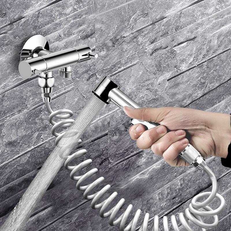 潜水艇马桶喷枪套装伴侣厕所清洗卫生间冲洗花洒水龙头喷头妇洗龘