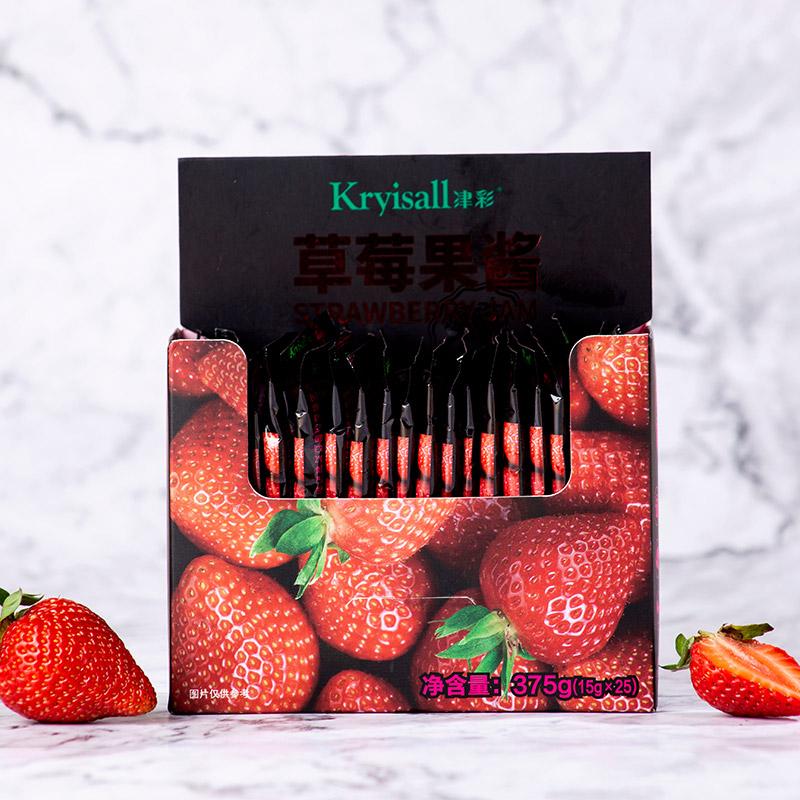 津彩果酱草莓蓝莓水果低脂小包装早餐夹面包涂抹吐司 (15gx25包)