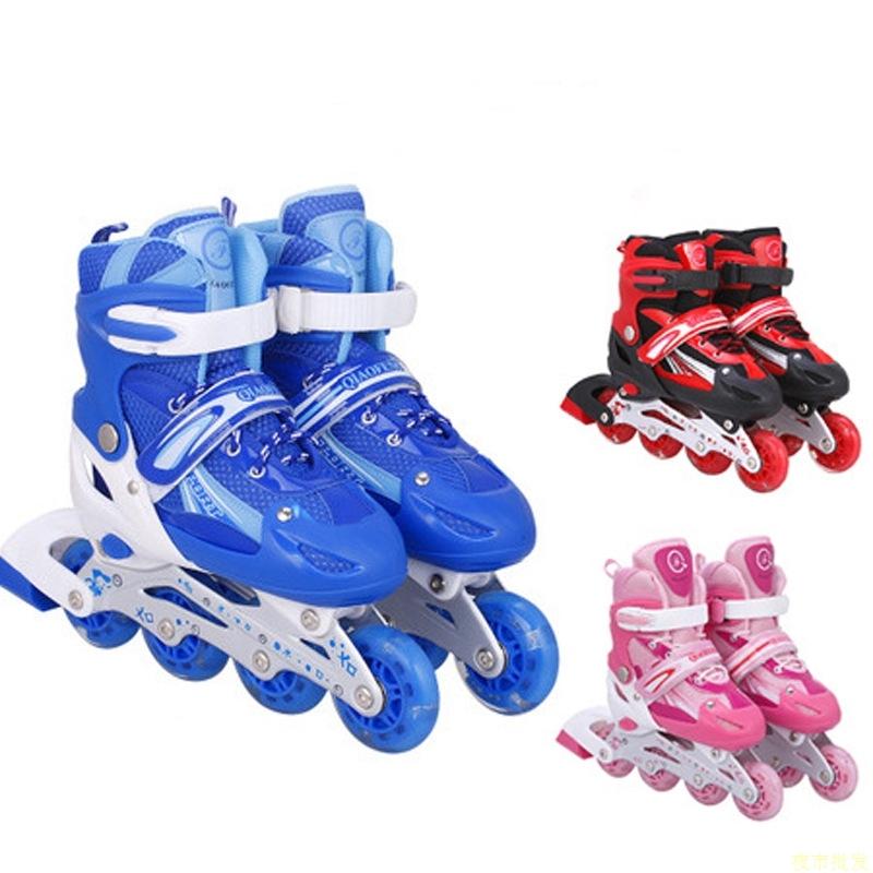 全闪光儿童溜冰鞋成人速滑轮滑鞋侨丰正品超滑旱冰鞋