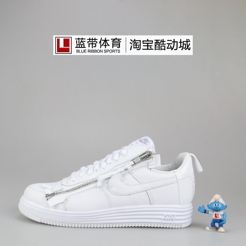 蓝带体育Nike Lunar Force 1 x Acronym 联名全白拉链AJ6247-100