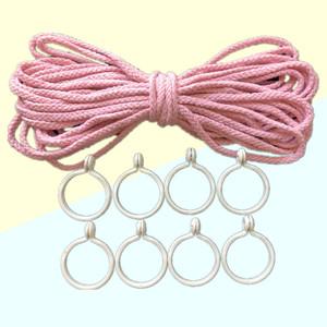 学生宿舍专用床帘绳子挂钩 挂蚊帐的绳子床幔加粗绳 挂钩活扣吊环