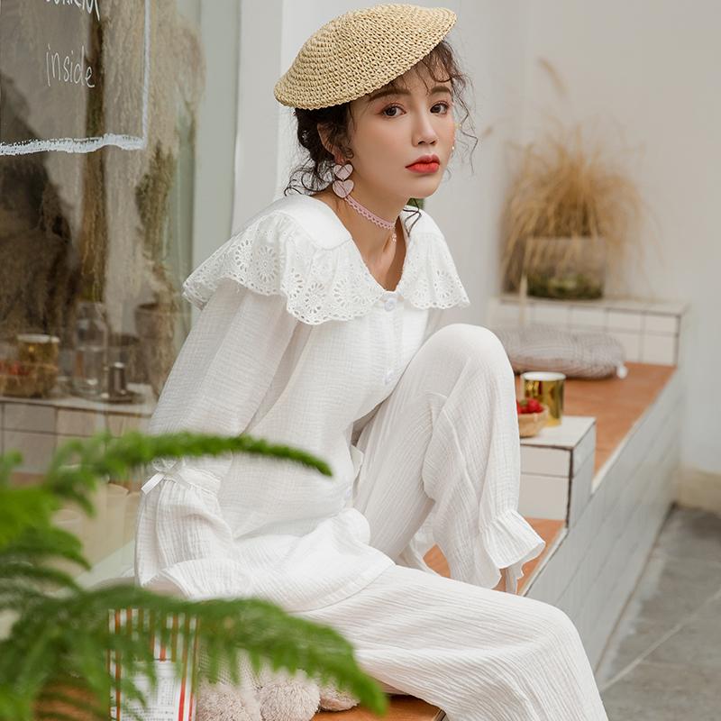 10月15日最新优惠孕妇哺乳睡衣女春夏纯棉纱布薄款产后喂奶秋季月子服怀孕期家居服