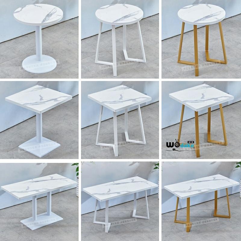 咖啡桌 美式 小 休闲 复古 子简约四方桌小圆桌咖啡桌长方形桌子