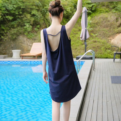 Cotton pajamas women's summer sleeveless suspenders sexy halter nightdress girl modal spring and autumn loose home service vest