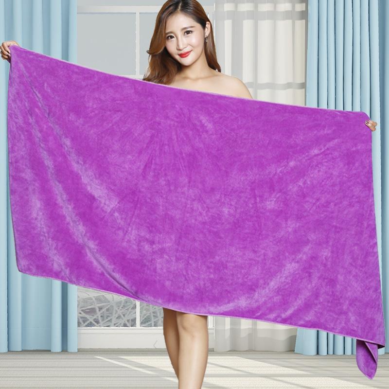美容院浴巾男女純棉吸水速干按摩鋪床專用特大號毛巾床單裹巾家用