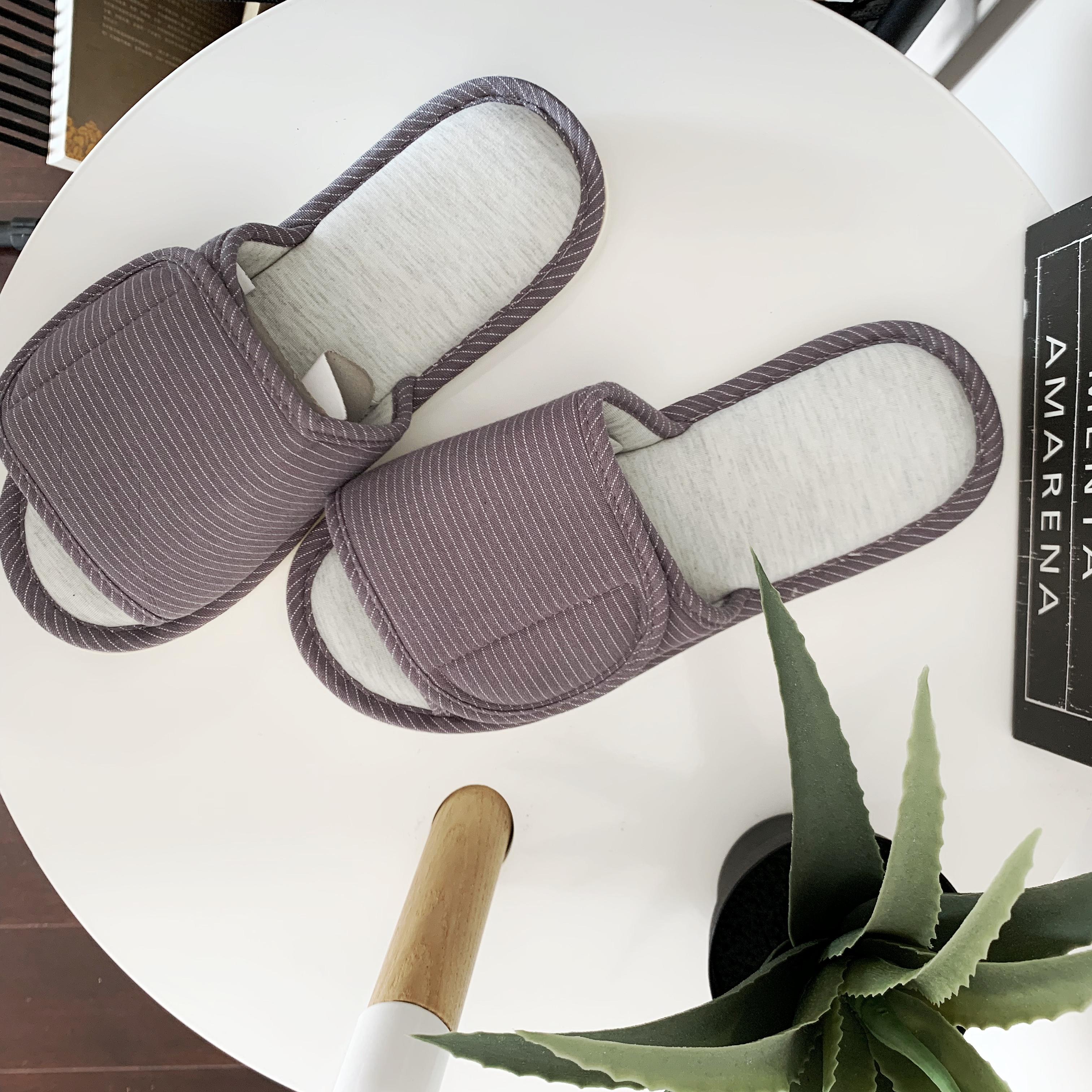 日式居家情侣棉麻拖鞋 室内静音软底舒适防滑亲肤透气家居鞋