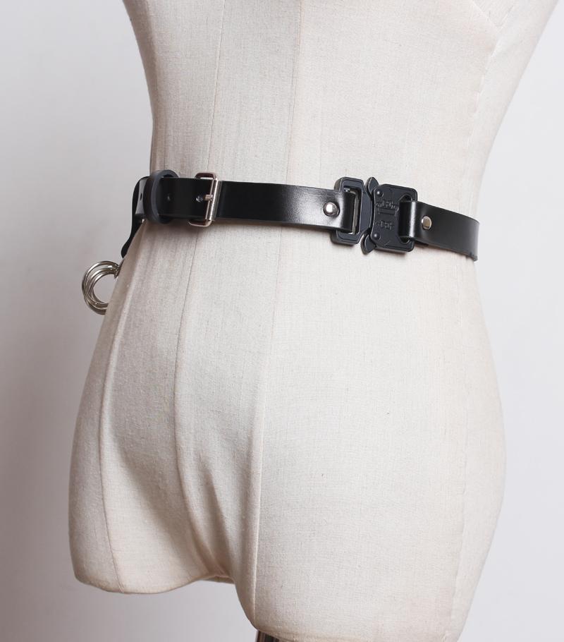 工业风战术机能风腰带工装裤金属插扣年轻人ins潮个性潮人皮带腰