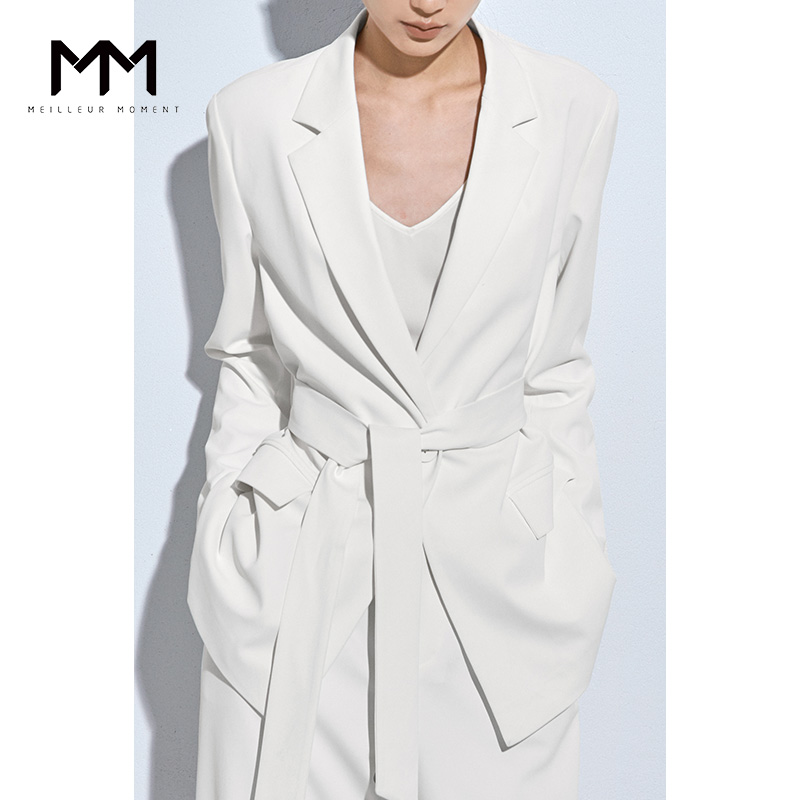 Shopping malls with the same paragraph MM Mai Mengchun new gentle suit white lace suit jacket female 5AC310241