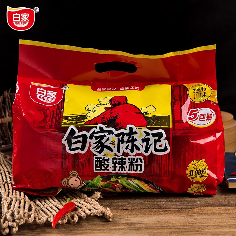 买2减5元 白家陈记酸辣粉丝108g*5袋 红薯粉正品袋装540g重庆包邮