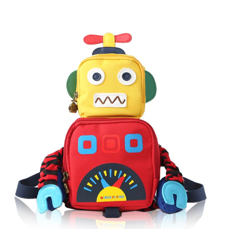 Korean childrens schoolbag kindergarten 1-3 years old robot backpack for boys and girls