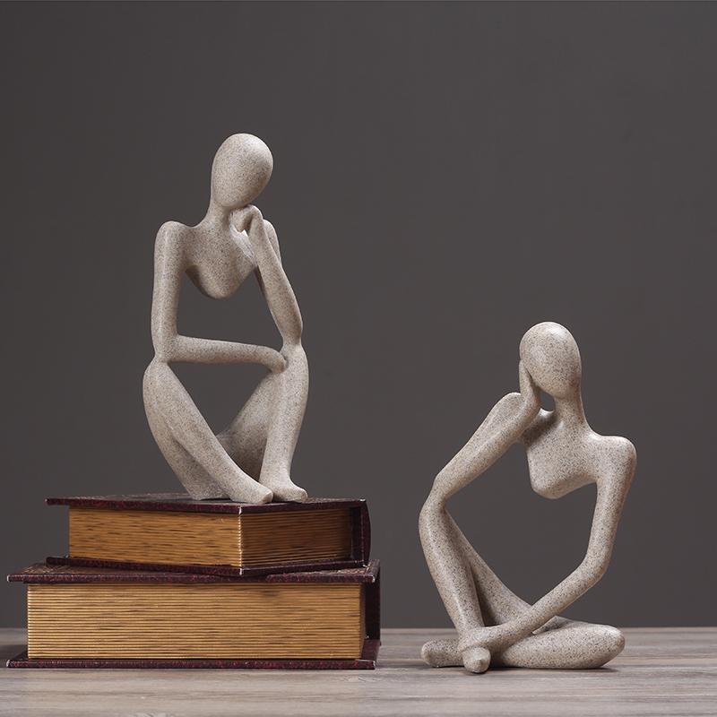 北欧抽象人物复古摆件现代简约办公室家居客厅酒柜装饰品雕塑摆设 Изображение 1